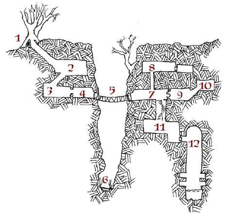Plan de la ravine aux gobelins