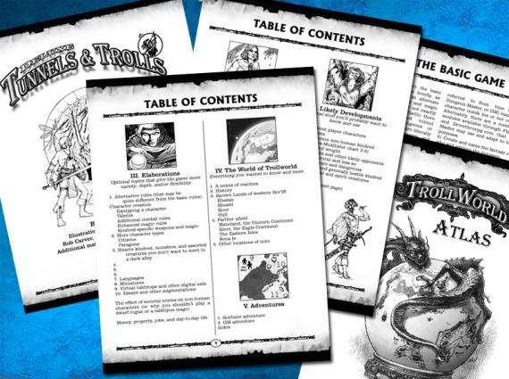 Yes here are a few pages from Deluxe Tunnels & Trolls.  Done, but still subject to final proofing and changes.